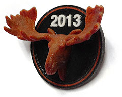 American made Lapelpin - the 3D moosehead did lead to another pins for the purple moose lodge as well.